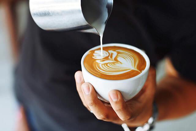 cà phê Latte đẹp