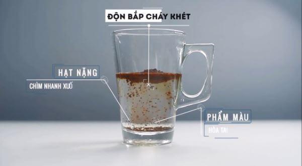 nhận biết cà phê sạch thể tích