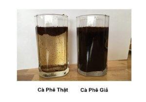 phân biệt cà phê nguyên chất khối lượng