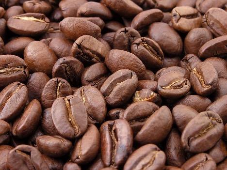 Hạt cà phê Bourbon sau khi rang.